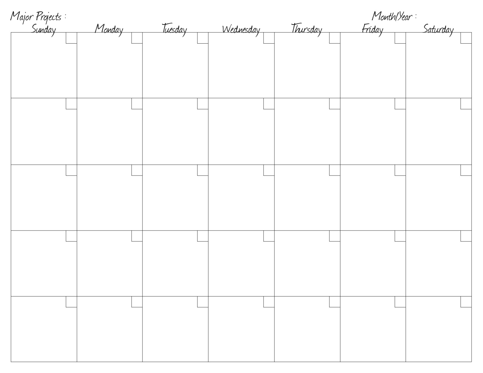 monthly project planning calendar calendar template 2016